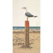 "Thea Gouverneur TG1062A White 25.5"" x 13"" Seagull On Aida Counted Cross Stitch Kit"