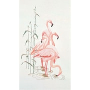 "Thea Gouverneur TG1070A White 25.5"" x 15"" Flamingoes On Aida Counted Cross Stitch Kit"