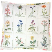 "Thea Gouverneur TG2074A White 16.13"" x 16.13"" Wild Flower Cushion On Aida Counted Cross Stitch Kit"