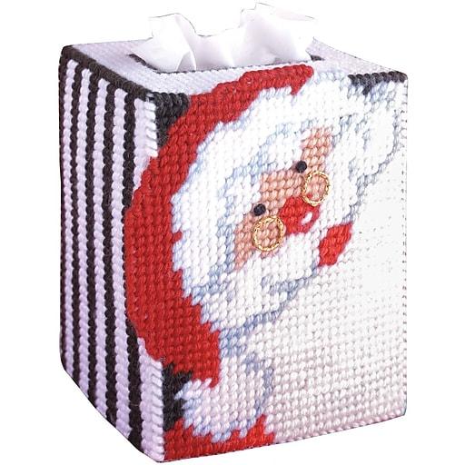 "Tobin DW1488 Multicolor 5"" Santa Tissue Box Canvas Kit (DW1488)"