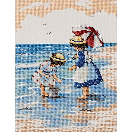 """Tobin DW2486 Multicolor 12"""" x 9"""" Counted Cross Stitch Kit, Inspirational ABC"""