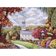 """Tobin DW2592 Multicolor 9"""" x 12"""" Fall Inspiration Counted Cross Stitch Kit"""