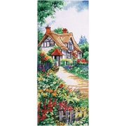 """Tobin DW2768 Multicolor 20"""" x 8"""" Thatched Cottage Counted Cross Stitch Kit"""