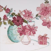 """Tobin DW2769 Multicolor 15"""" x 15"""" Pastel Floral Counted Cross Stitch Kit"""
