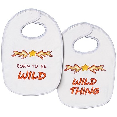"""""Tobin T21759 Multicolor 11"""""""" x 7.5"""""""" Born To Be Wild Bib Stamped Cross Stitch Kit, 2/Set"""""" 1579184"