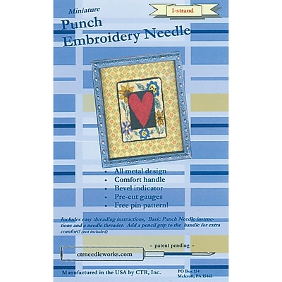 CTR CTR-NDL-1 Metal/Plastic 1-Strand Punch Embroidery Needle