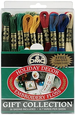 DMC 117F25-HDAY 8.7 yards Holiday Decor Embroidery Floss Pack, 30/Pack