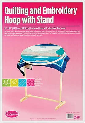 Edmunds 5590 Wood/Brass Hoop with Floor Stand