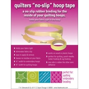 "Edmunds Quilter's QHT-1 3"" x 0.75"" Rubber No-Slip Hoop Tape"