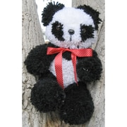 "Huggables 36108 White/Black 16"" Panda Stuffed Toy Latch Hook Kit"