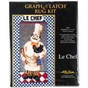 """M C G Textiles 37644 Multicolor 40"""" x 23"""" Le Chef Latch Hook Kit"""
