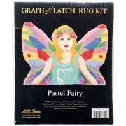 """M C G Textiles 37790 Multicolor 24"""" x 33.75"""" Pastel Fairy Shaped Latch Hook Kit"""
