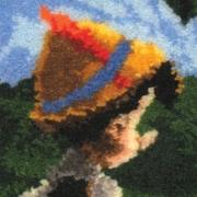 """M C G Textiles 52754 Multicolor 12"""" x 12"""" Latch Hook Kit, Pinocchio"""