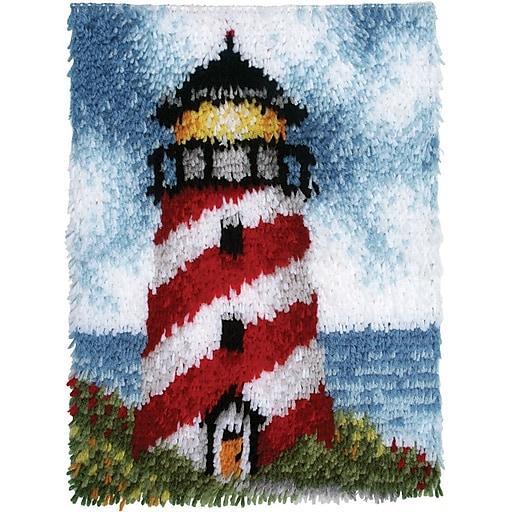 "Wonderart 426158 Multicolor 20"" x 15"" Latch Hook Kit, Sailors Beacon"