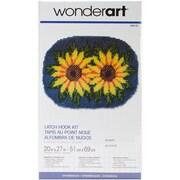 "Wonderart 426125C Multicolor 20"" x 27"" Latch Hook Kit, Sunflower"
