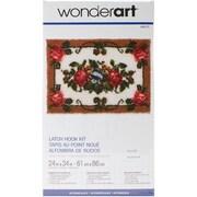 "Wonderart 426127C Multicolor 24"" x 34"" Elegant Roses Latch Hook Kit"