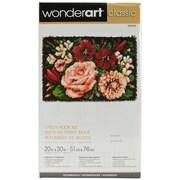 """Wonderart Classic 426406C Multicolor 20"""" x 30"""" Floral D'vine Latch Hook Kit"""