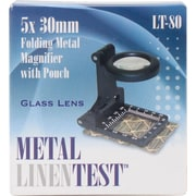 Carson Optical Metal Linen Test LT-80 Metal Folding Magnifier with Pouch