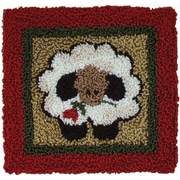 """Rachel's Of Greenfield PNK3210 Multicolor 3.25"""" x 3.25"""" Round Sheep Punch Needle Kit"""