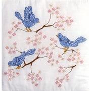 """Tobin T288044 18"""" x 18"""" Blue Birds Cotton Stamped Quilt Blocks, 6/Pack"""
