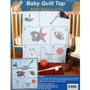 "Fairway 42110 Blue 42"" x 36"" Sports Stamped Baby Quilt Top"