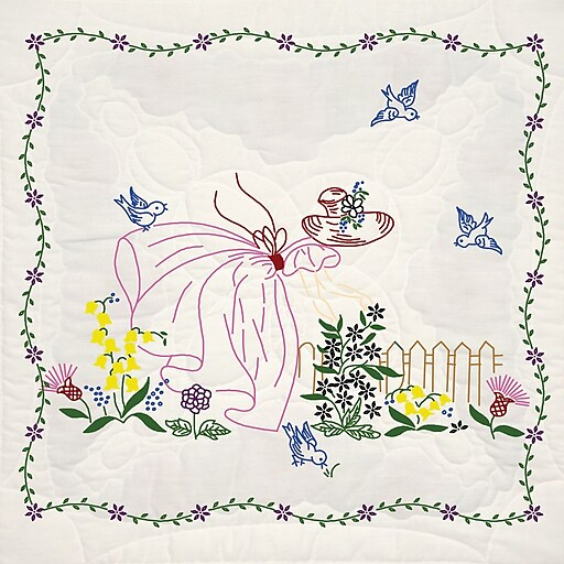 "Fairway 95111 18"" x 18"" Miss Daisy Stamped Quilt Blocks, 6/Pack"