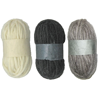 Dimensions Feltworks 72-73933 Wool Pencil Roving, 3/Pack