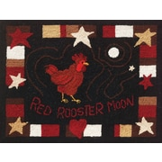 """M C G Textiles 73009 Multicolor 20"""" x 27"""" Heritage Rug Hooking Kit, Red Rooster Moon"""