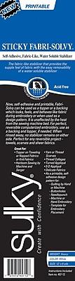 Sulky 457-12 Sticky Fabri Solvy Stabilizer