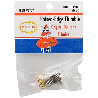 Colonial Needle SST-7 Raised Edge Thimble, 7