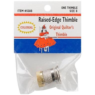 Colonial Needle SST-8 Raised Edge Thimble, 8