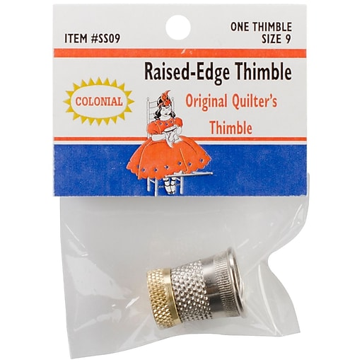 Colonial Needle SST-9 Raised Edge Thimble, 9""