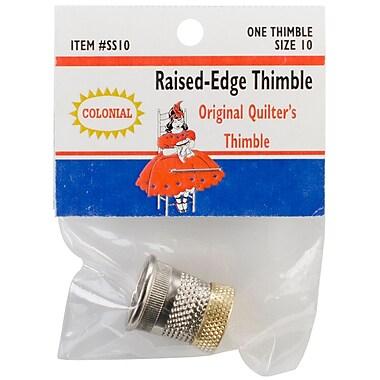 Colonial Needle SST-10 Raised Edge Thimble, 10