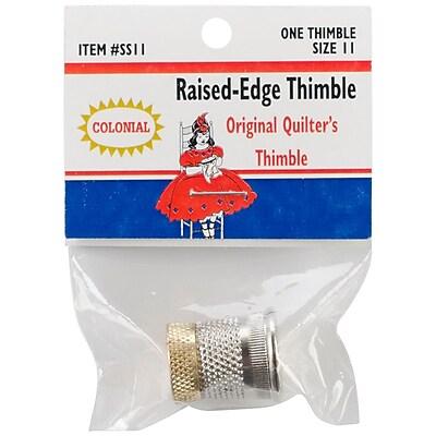 Colonial Needle SST-11 Raised Edge Thimble, 11