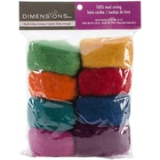 Dimensions 72-7400 Wool Roving for Needle Felting, 8/Pack