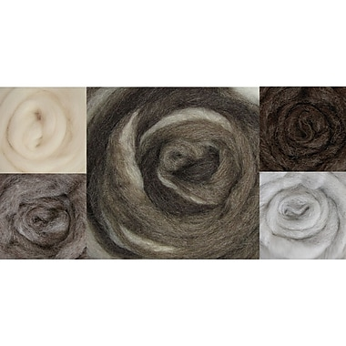 Wistyria Editions WRS-W900R Wool Furry Friends Roving, 8/Pack