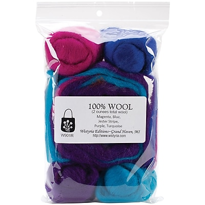 Wistyria Editions WRS-W901R Wool Jester Roving, 8/Pack