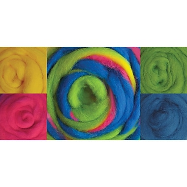Wistyria Editions WRS-W903R Wool Beach Balls Roving, 8/Pack