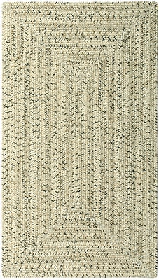 Capel Sea Pottery Sandy Beach Variegated Outdoor Area Rug; Concentric Square 3'