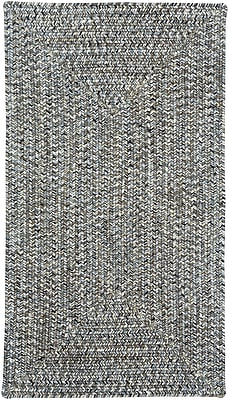 Capel Sea Pottery Smoke Variegated Outdoor Area Rug; Concentric 1'8'' x 2'6''