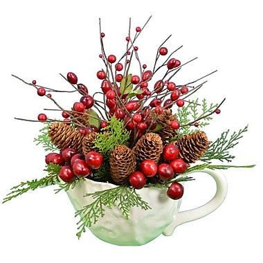 Fantastic Craft 15'' Berry Pine Cone Teapot