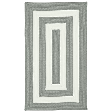 Capel Willoughby Beige Striped Outdoor Area Rug; Concentric 2' x 3'