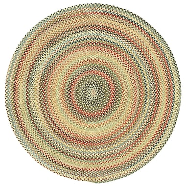 Capel Portland Gold Variegated Area Rug; Round 8'6''