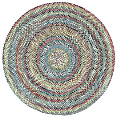 Capel Portland Medium Blue Variegated Area Rug; Round 8'6''