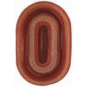 Capel Portland Red Variegated Area Rug; Oval 11'4'' x 14'4''