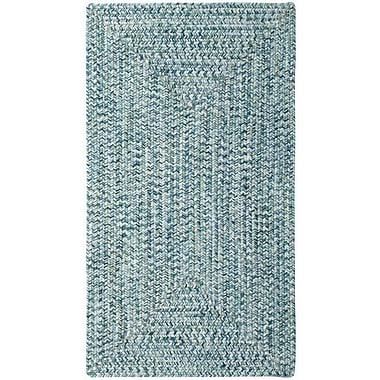 Capel Sea Pottery Blue Outdoor Area Rug; Concentric 2' x 3'
