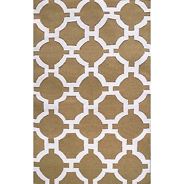 Liora Manne Assisi Hand Woven Khaki Indoor/Outdoor Area Rug; Rectangle 5' x 7'6''
