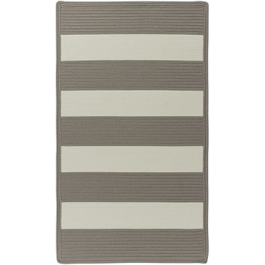 Capel Willoughby Beige Striped Outdoor Area Rug; Cross Sewn 4' x 6'