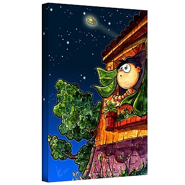 ArtWall 'UFO Kid 1' by Luis Peres Graphic Art on Wrapped Canvas; 48'' H x 36'' W