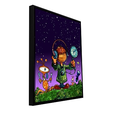 ArtWall 'UFO Kid 4' by Luis Peres Framed Graphic Art on Wrapped Canvas; 32'' H x 24'' W